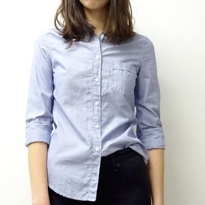 Aritzia Talula Oxford Classic Fit Button Down Top